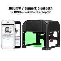 Nouvelle mise à niveau 3000MW Compact bureau bluetooth Laser Machine de gravure logo bricolage marque imprimante Cutter CNC Laser sculpture Machine