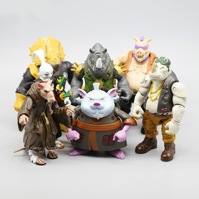 New Specials Resin Ninja Turtles Joint Action Horns Palace Foundation Pig Noodle Toys Gifts Free Shipping Funko Pop Lol