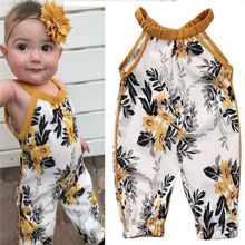 Newborn Baby Girls Rompers Sleeveless Floral Romper Baby Gir