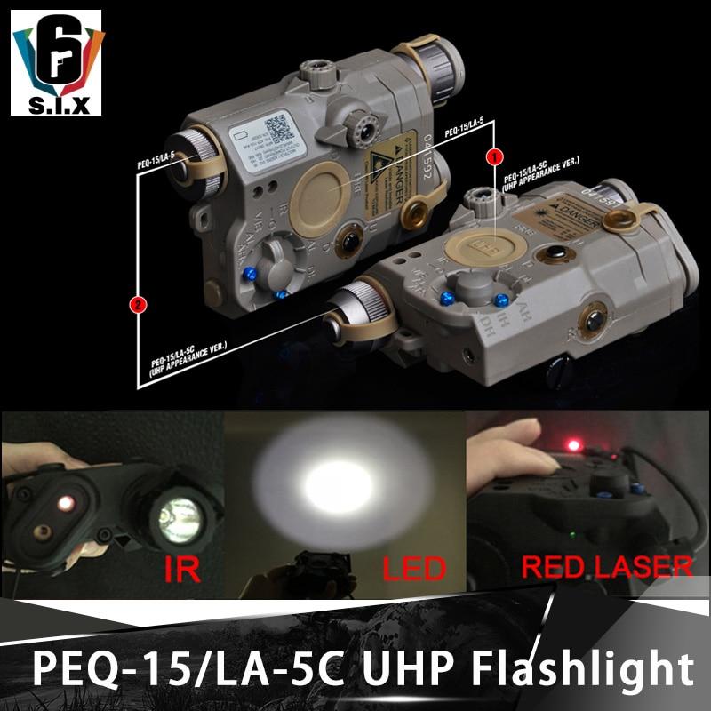 Element Softair Surefir PEQ 15 LA 5C UHP Tactical Flashlight PEQ15 Red Laser IR Light With