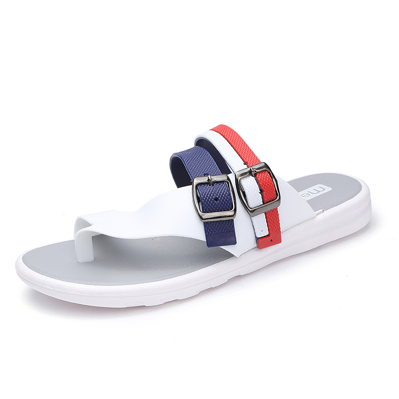 2019 summer new Men's Solid Flat Indoor & Outdoor Slippers Men Non-slip Flip Flops Sandals Male fashion casual Beach shoes