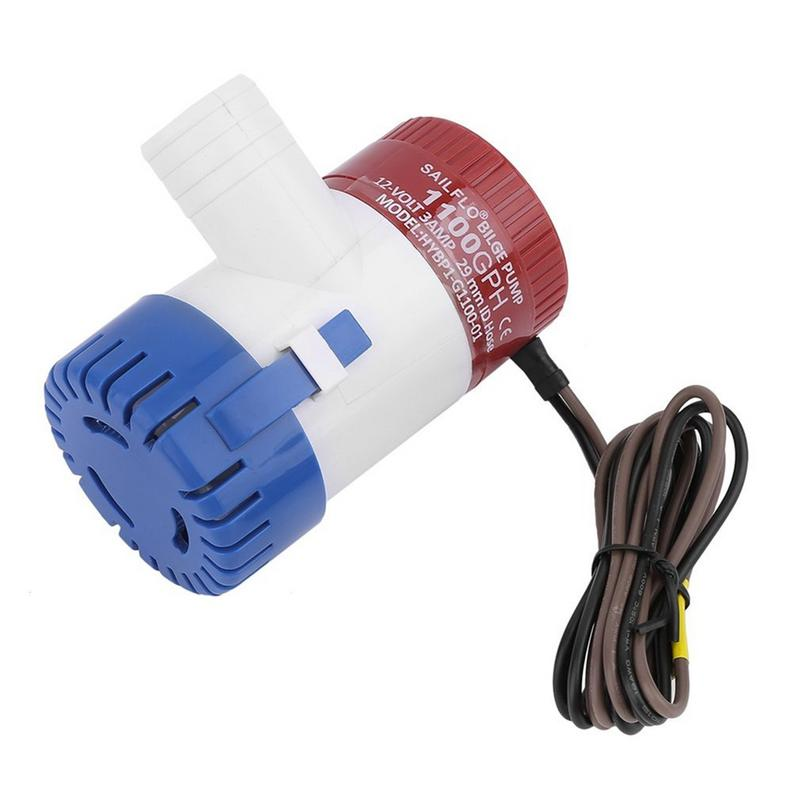 Image 2 - Professional 3.0A 1100 GPH 12V Submersible Boat Electric Bilge Pump 1 1/8 Inch Outlet For Boat Bilge Pump-in Marine Pump from Automobiles & Motorcycles