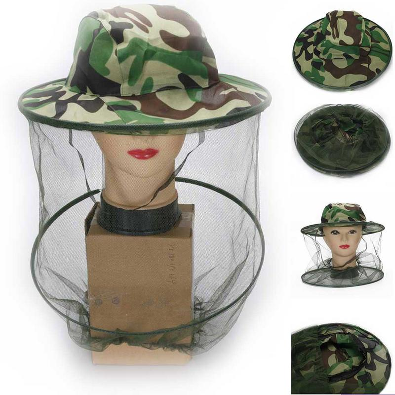 Beekeeping Tools Clever Tropic Hat Summer Wide Brim Camouflage Mosquito Net Outdoor Fishing Cap Bee Flying Insects Bucket Mesh Protector Discounts Sale