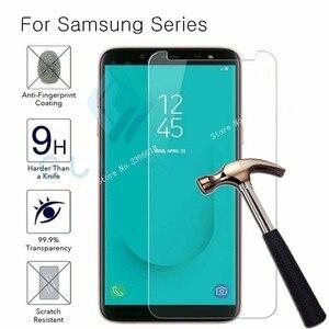 Glass on for samsung galaxy j3 j5 j7 2017 j4 j6 j8 2018 protective glas samsumg samsyng galax j 3 4 5 6 7 8 A10 30 50 M10 Film(China)