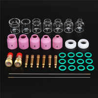 FORGELO 36pcs/set Durable TIG Welding Torch Stubby Tig Gas Lens Glass Cup Kit For WP-17/18/26 Welding Accessories