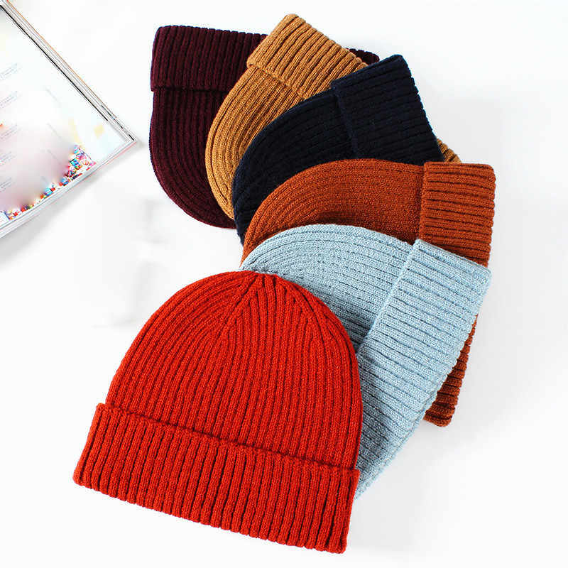 6d01d7813 Fashion Miki Hat Knitted Men Women Solid Fisherman Beanies Acrylic Autumn  Winter Warm Caps Soft Skullies Gorro Cap 18 Colors