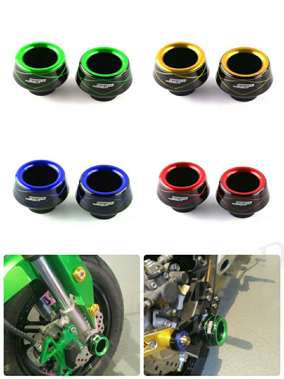 Universal CNC Front Rear Fork Wheel Fall Protection <font><b>Frame</b></font> <font><b>Slider</b></font> Anti Crash Protector For <font><b>Kawasaki</b></font> Z125 <font><b>Z650</b></font> Z900 Ninja 250/300 image