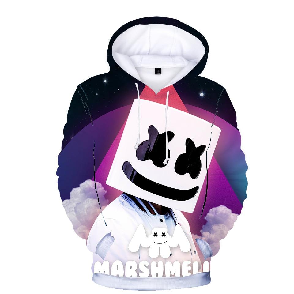 Teenmiro Kids Marshmello Hoodie Boys Girls Print 3D DJ