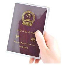 New Transparent Passport Cover Coverage of Passport Transparent Protector for Travel Identity Card цена