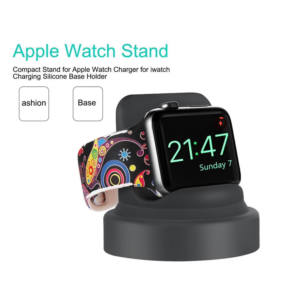 Image 4 - Compact Stand For Apple Watch Charger For Iwatch Charging Silicone Base Holder High Quality Portable Mini Charger Stand-in Chargers from Consumer Electronics
