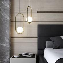 Nordic Modern Led Glass Ball Pendant Lights Restaurant Living Room Cafe Bedroom Bar Pendant Lamp light Kitchen Fixtures Lighting