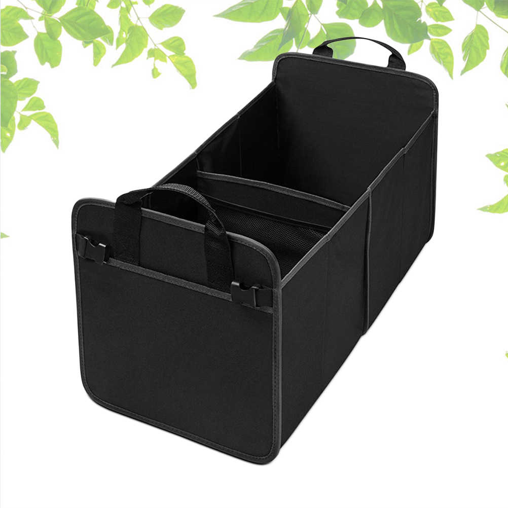 1Pc Trunk Organizer Waterproof Portable Collapsible Heavy Duty Multi Compartments Car Storage Accessories for Car Outdoor Home