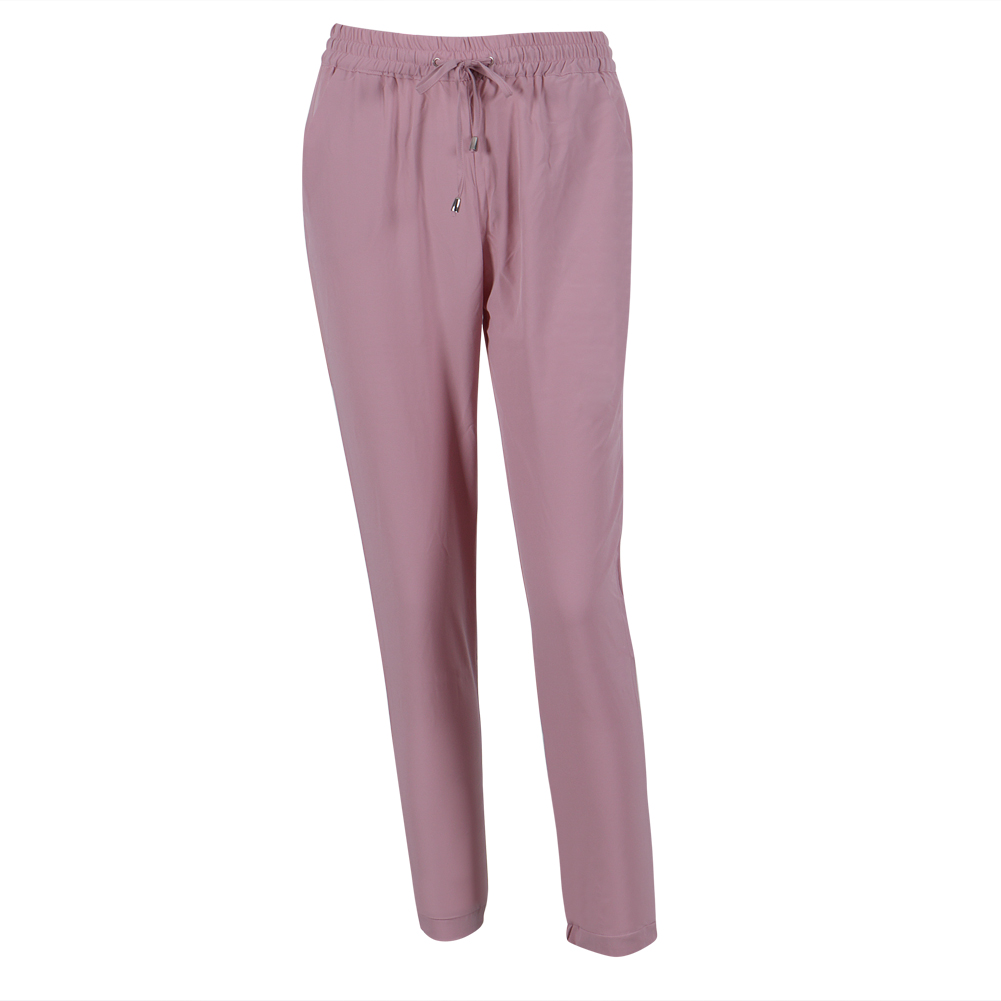 Slim Women's Chiffon Elastic Waist Drawstrings Harem Pants Trousers  Color