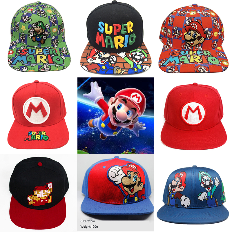 Handmade New Super Mario Cosplay Props Baseball Hat Mario Bros Cosplay Cap Game Super Mario Hat Adult Kids Cosplay Caps