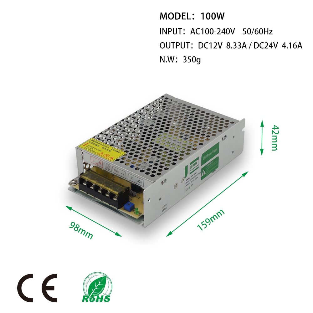 100W LED Power Supply LED Strips Drive DC12V 24V Non Waterproof Adapter transformer IP20 Indoor Use for LED Linear light panel in Lighting Transformers from Lights Lighting