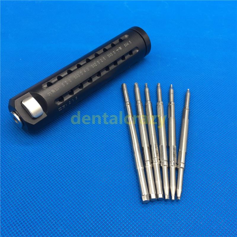 Bone Screwdriver Set Quick Coupling Handle Hex Head Bone Screw Drivers Veterinary Orthopedic Instruments