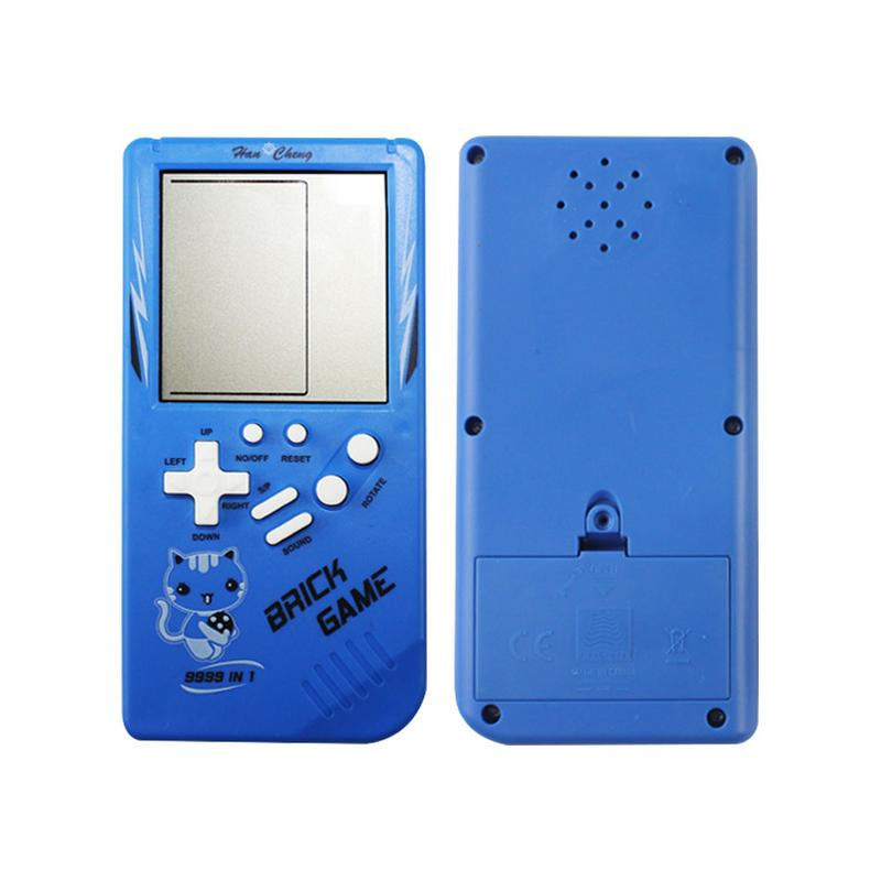 Kids Toys Classic Tetris Hand Held LCD Electronic Game Toys Fun Brick Game Riddle Handheld Game Console Toy For Baby Children