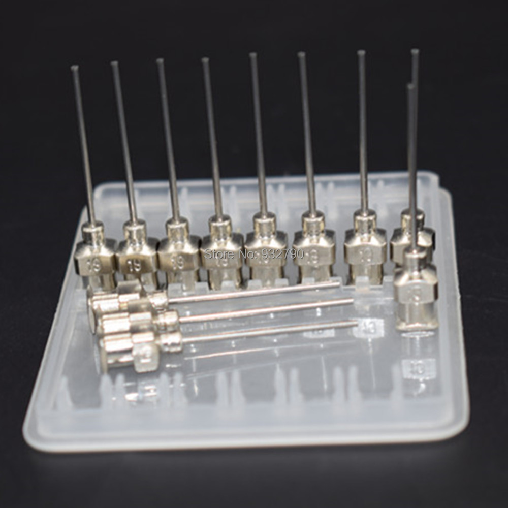 Temperate 12 Pack 19g Stainless Steel Dispenser Tips Blunt Cut Across 19 Guage 0.7mm Dispensing Needle Tips Liquids Adhesive Mixing Tip Caulking Gun