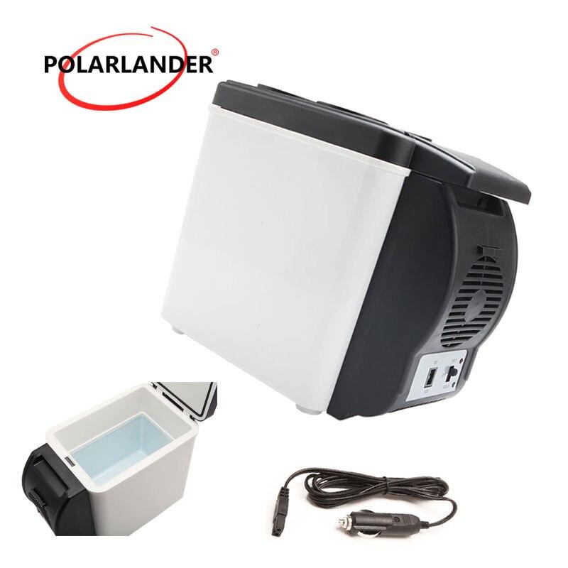 Quality ABS Mini Car Refrigerator Portable Multi Function Auto Car Boat Travel Fridge Cooler Freezer Warmer 48W 12V 6L