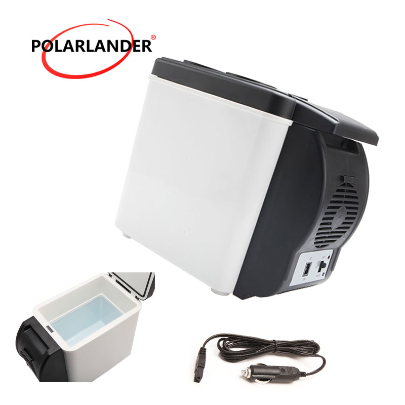 Quality ABS Mini Car Refrigerator Portable Multi-Function Auto Car Boat Travel Fridge Cooler Freezer Warmer 48W 12V 6L