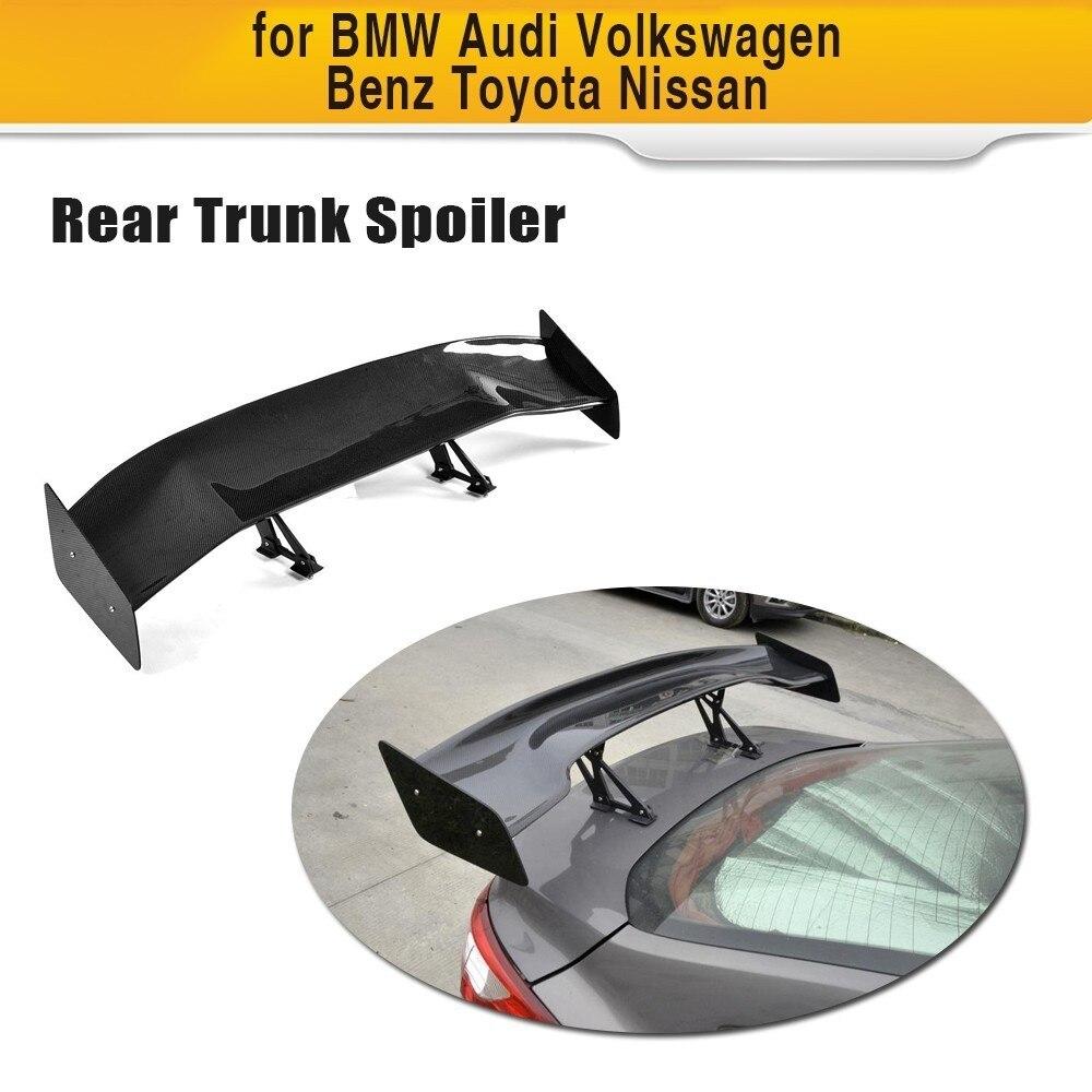 For Toyota GT86 Subaru BRZ Nissan GTR Car Styling Carbon Fiber Car Rear Trunk Boot Lip Spoiler Wings Universal Spoiler