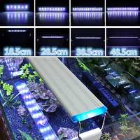 19-60 см светодиодный аквариум освещение для аквариума Панель со скобами 5730SMD лампы синий + белый светодиодный светильник регулируемый Алюмин...