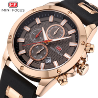MINI FOCUS Mens Watches Quartz Luxury Brand Sports Watch Men Military Wrist Watches Male Clock Silicone Strap Relogio Masculino