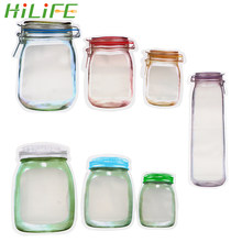 HILIFE Storage Bag Smell Proof Clip Stand Up Bag Food Grade Plastic Food Snack Pouches Zip Lock Bag Storage Zipper(China)