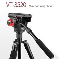 Kingjoy VT 3520 360 Panoramic Fluid Drag Damping Head Video Tripod Head Camera stabilizer bracket Compatible with tripod