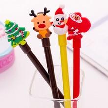 Милая мультяшная Рождественская серия гелевых ручек, креативная свежая офисная ручка для студентов, канцелярские принадлежности
