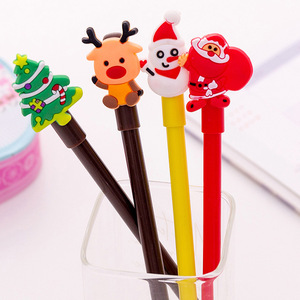 Cute Cartoon Christmas Series Gel Pen Creative Fresh Students Office Pen for writing Stationery
