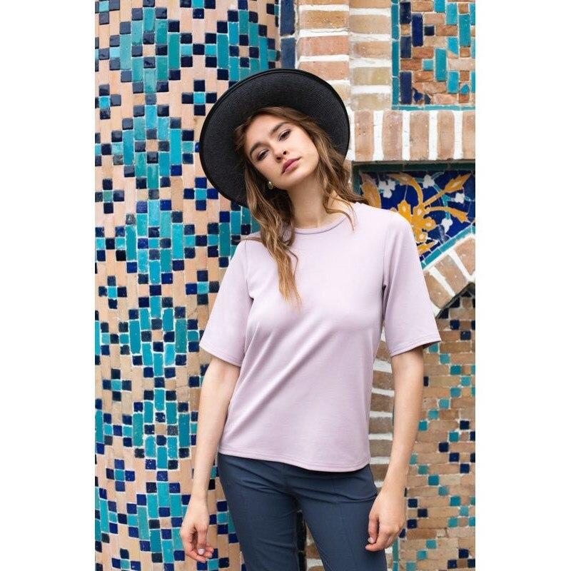 T Shirt. Color pink. solid color lapel chest faux pocket mens shirt