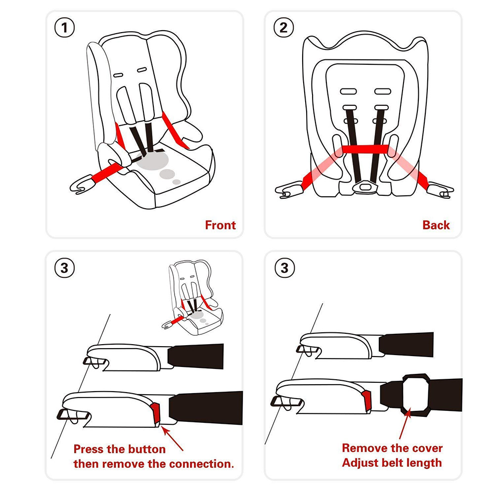 For ISOFIX Universal Durable Belt Children Soft Safety Seat Latch Connector Car