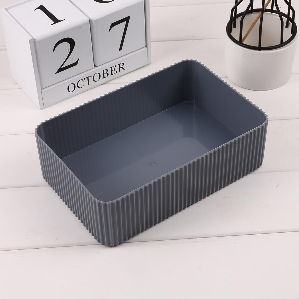 Storage-Box Cosmetic Desktop Rectangular Durable Home 18L Etc Office