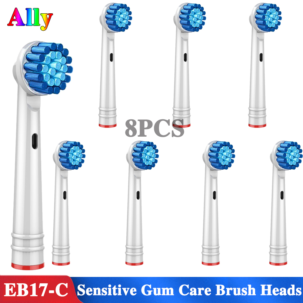 8PC Electric Toothbrush heads Sensitive Gum Care Replacement Brush Heads For Braun Oral B Professional Care SmartSeries TriZone image