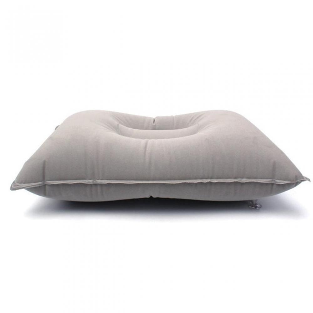 Travel Self-Inflating Portable Pillow Comfortable Outdoor Fleece Pillow Sleeping Camping Flocking Inflatable Office Home PVC цены онлайн