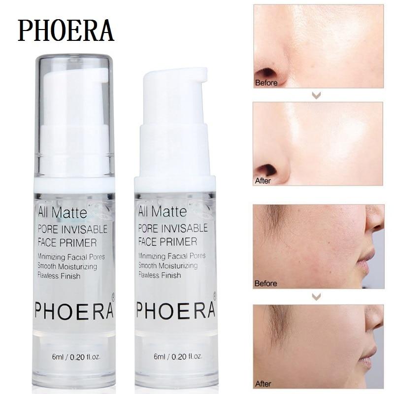 PHOERA Matte Face Base Primer Oil Control Moisturizing Brighten Long-lasting Pores Whitening Sun Block Makeup Face Primers TSLM1
