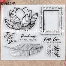 Цветы перо с любовью скрапбукинга DIY фото карты резиновый чистый штамп для скрапбукинга прозрачный штамп 12,5x10,5 см KW8091104