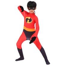 The Incredibles Costume Children Boys Girl Cosplay Superhero Jumpsuit Kids Halloween