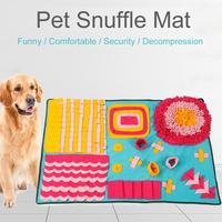 Fancy Color Cat Dog Snuffle Mat Bite Resistant Environmentally Friendly Training Blanket For Consuming Strength Pet Sniffing Pad