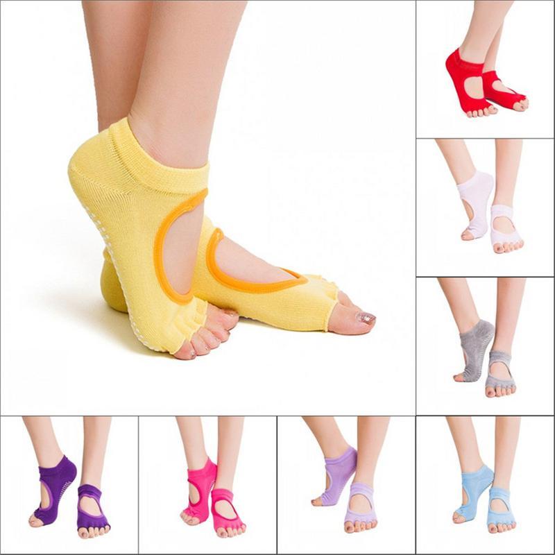 Five Toes Socks Women Round Yoga Socks Ballet Dancing Socks For Women
