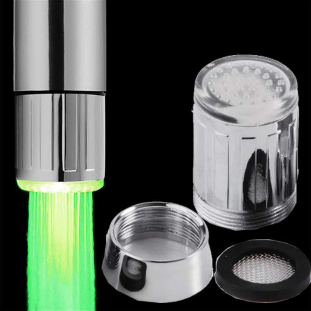 Кран для ванной комнаты, датчик температуры, цветной, меняющийся, RGB, светящийся светодиодный кран, насадка для раковины, кран torneira para cozinha