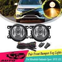 Per Mitsubishi Outlander Sport & RVR 2007-2018/ASX 2014 1 Pair Paraurti Anteriore Della Lampada Della Luce di Nebbia Della Luce con la Lampadina Cablaggio 8321A467