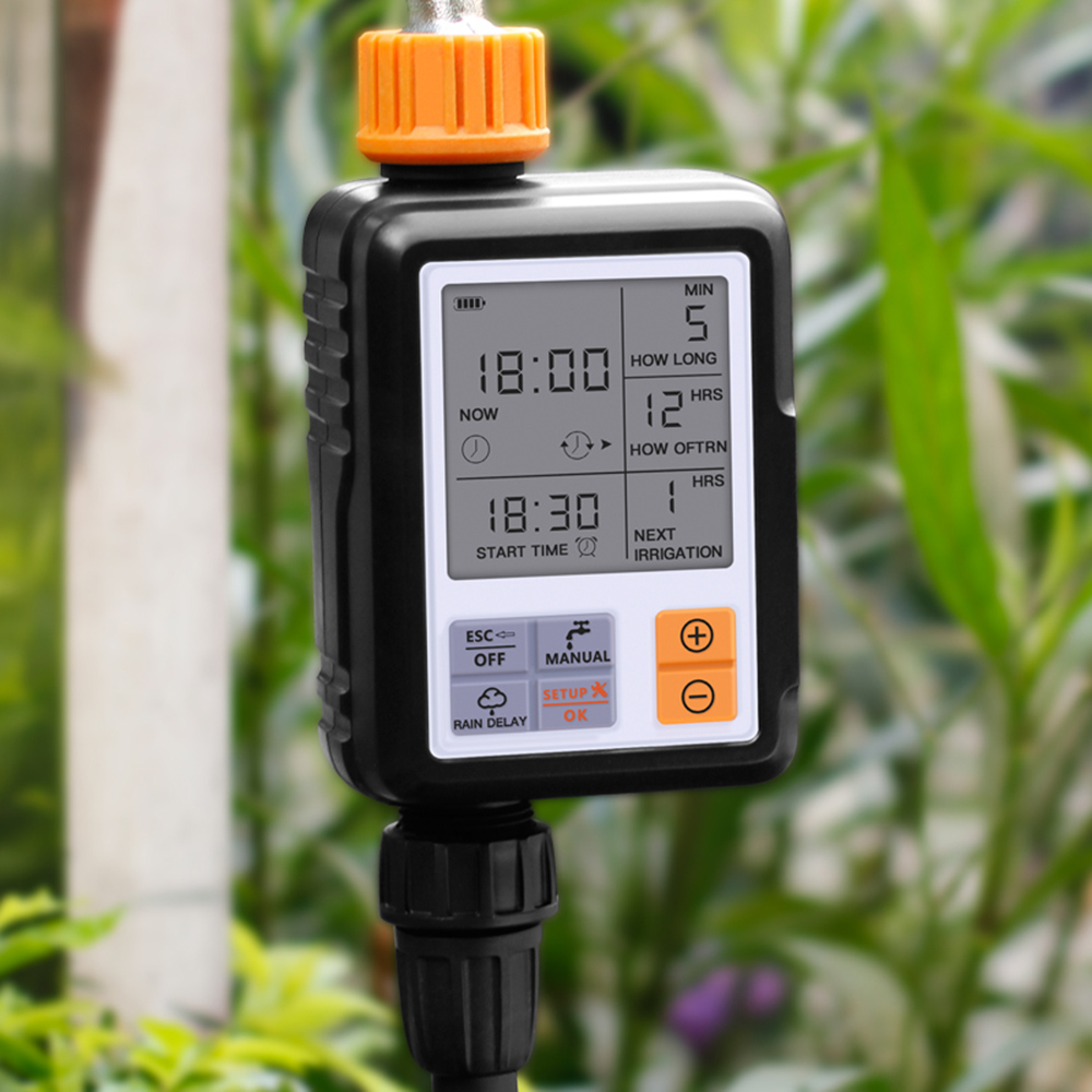 LCD Display Automatic Garden Outdoor Irrigation Controller Water System Timer