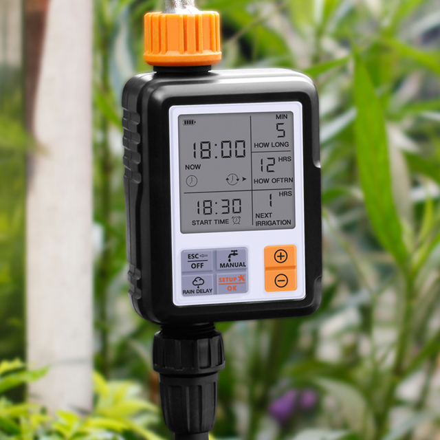 Automatic Electronic Water Timer LCD Screen Sprinkler Controller Outdoor Garden Timer Automatic Watering Device Irrigation Tools