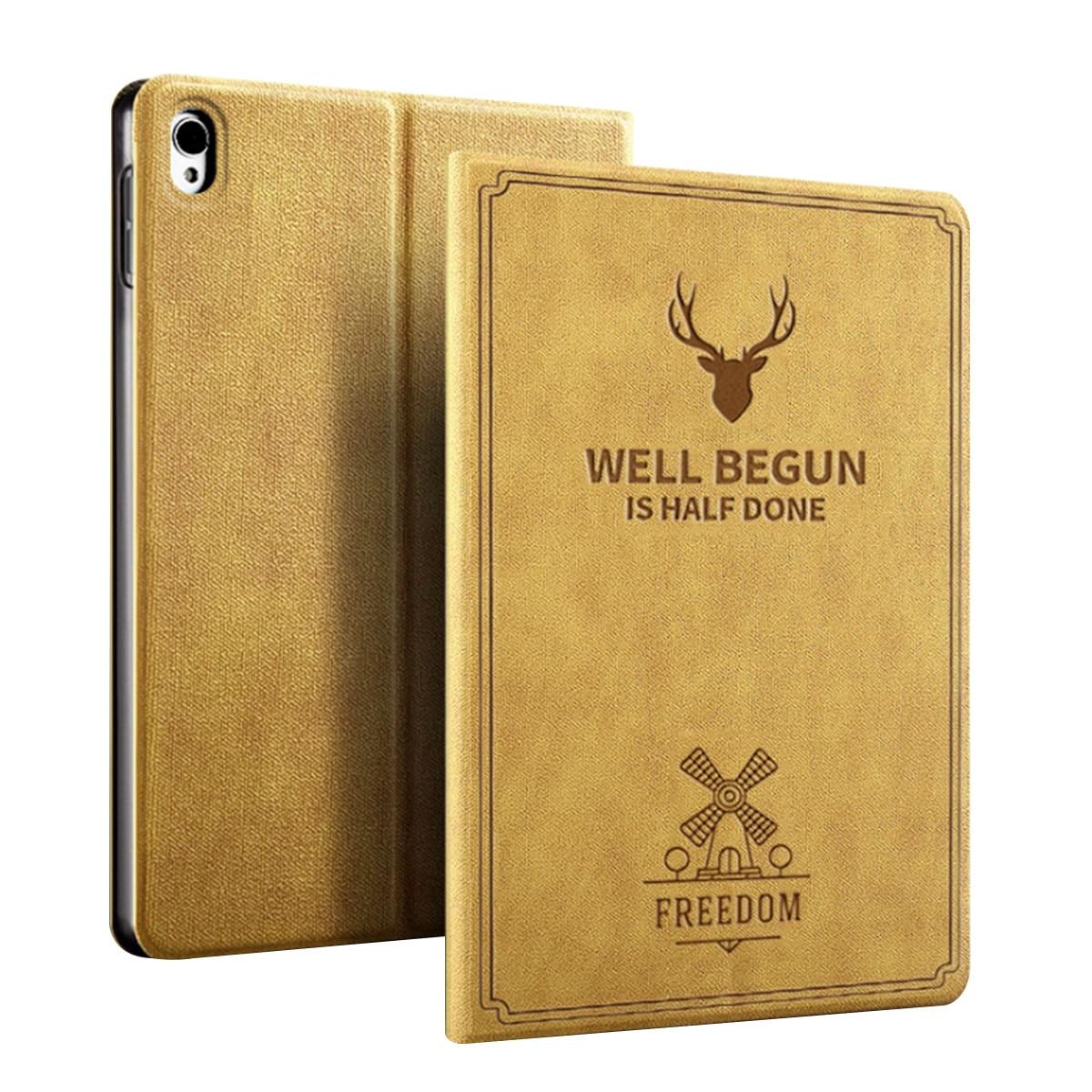 For iPad Mini 5 Case 2019 PU Leather Retro Deer Slim Flip Stand Tablet 7.9 Inch Smart Sleep Awake