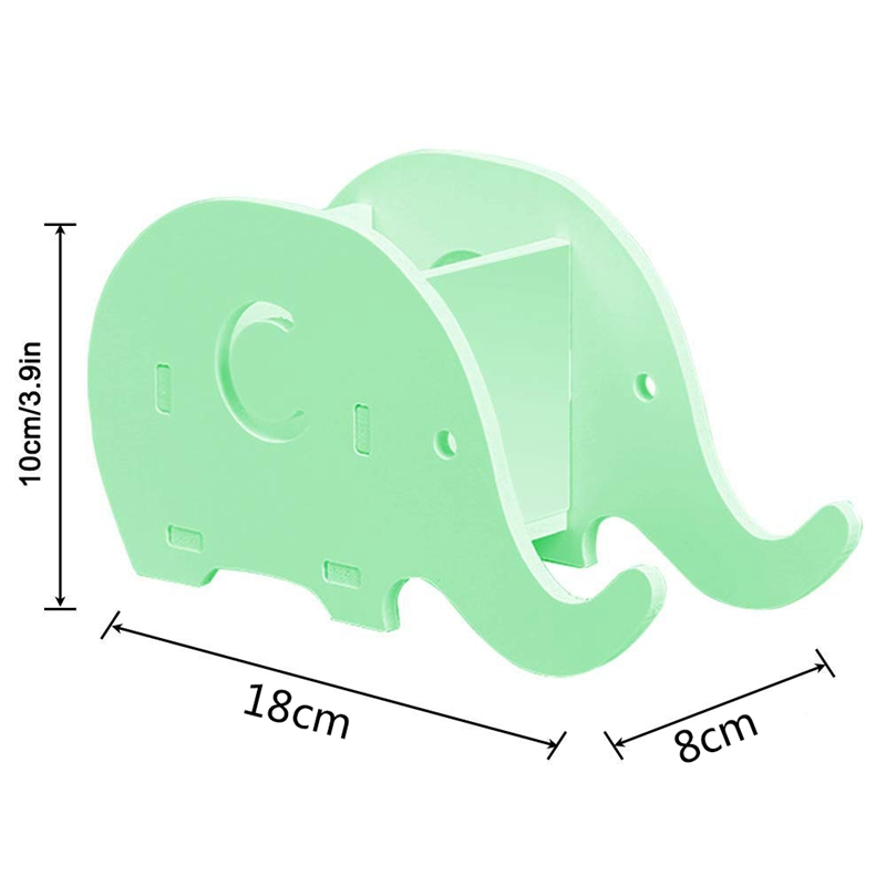 Office A Lustrous 4 Pcs Elephant Shape Cell Phone Stand & Desk Pencil Pen Holder,wood Stationery Multifunctional Organizer Decoration Office & School Supplies