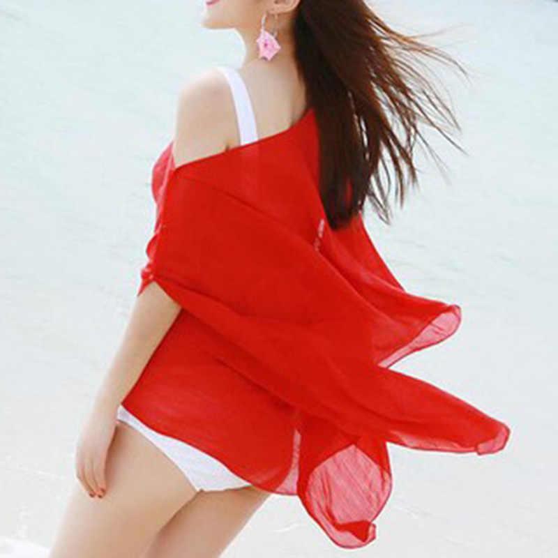 נשים טיוח קיץ חג חוף סקסי מוצק צבע וחוף ביקיני חוף שמלת ביקיני בגדי ים לחפות נשים בגדים