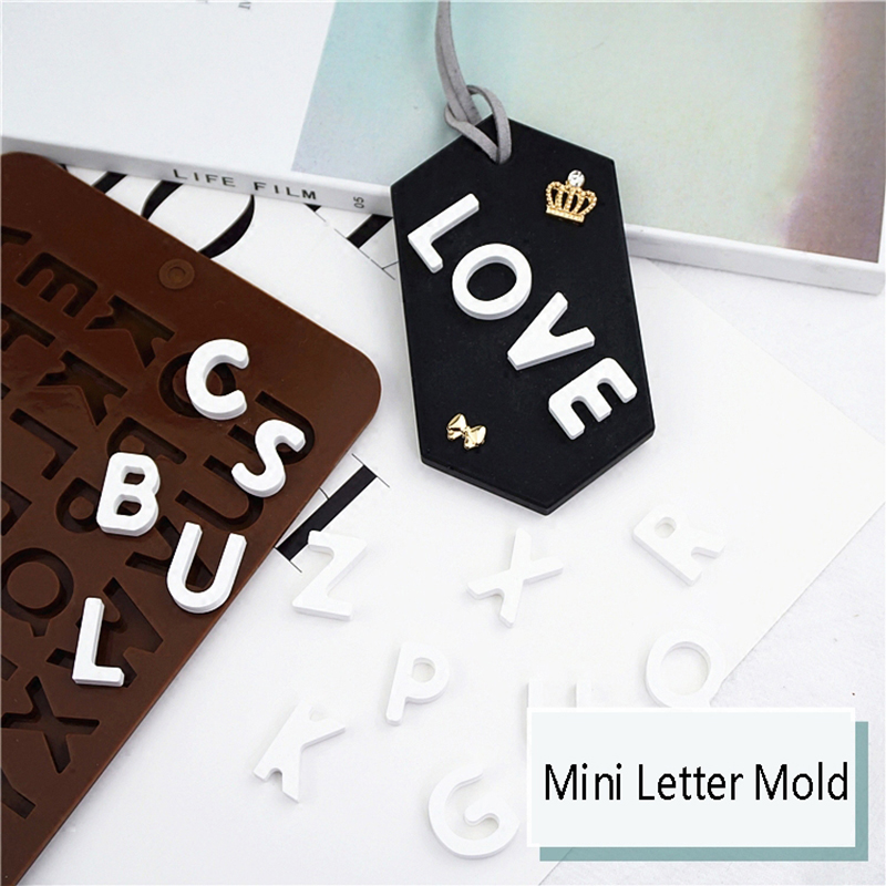 mini letter silicone mold aroma gypsum clay plaster crafts