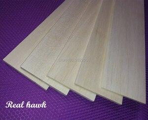 Image 2 - 10pcs 500x100x0.75/1/1.5/2/2.5/3/4/5mm AAA+ Model Balsa wood sheets for DIY RC model wooden plane boat material